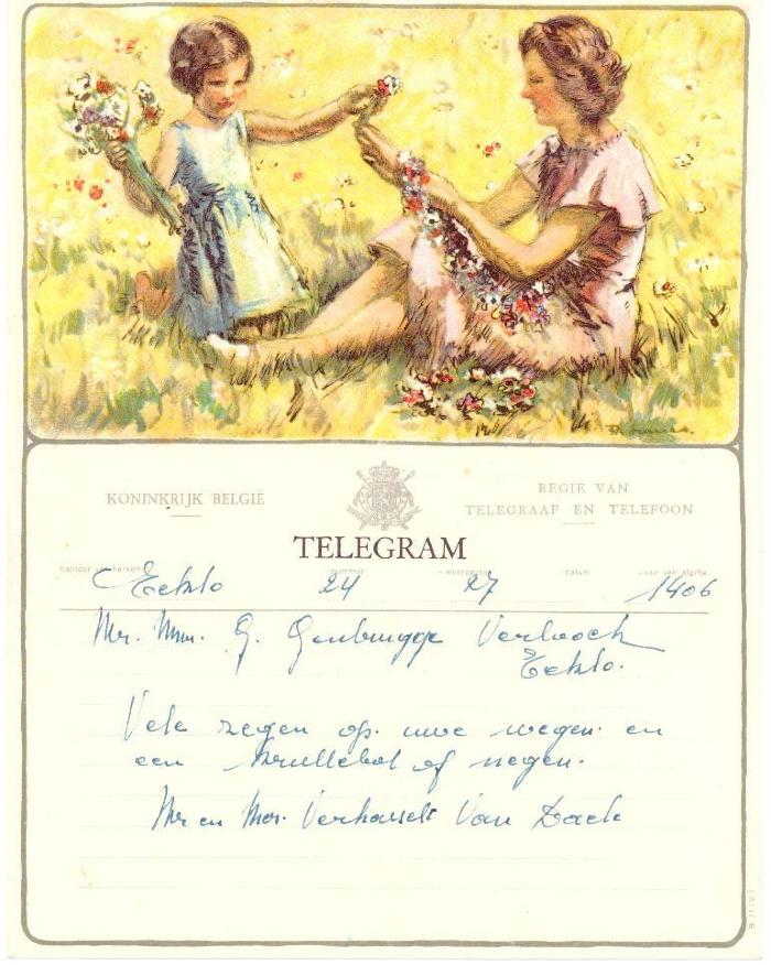 Telegram met huwelijkswensen