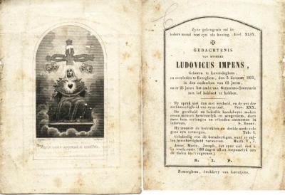Bidprentje Ludovicus Impens
