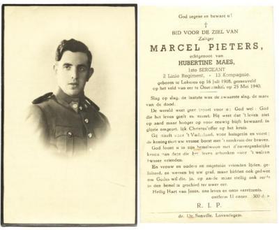 Oorlogsslachtoffer Marcel Pieters