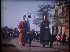 Film: 'Lentecavalcade', Zelzate 1954