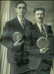 Kampioenen krulbol De Baerdemaecker Gustaaf en Van Hecke Gustaaf, 1946