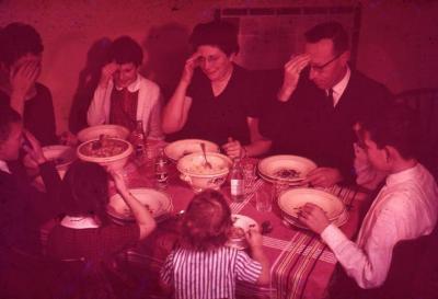 Het Lembeekse gezin Matthys aan tafel