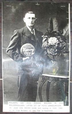 Koning krulbol, Jozef Van Hecke, 1939-1940, Assenede
