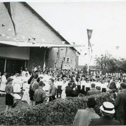 Inhuldiging parochiezaal Beke, 1958