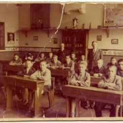 Klasfoto 10-jarige jongens, Ursel, 1918-1919