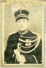 Portret van rijkswachter Willy Willems, Zelzate, 1949
