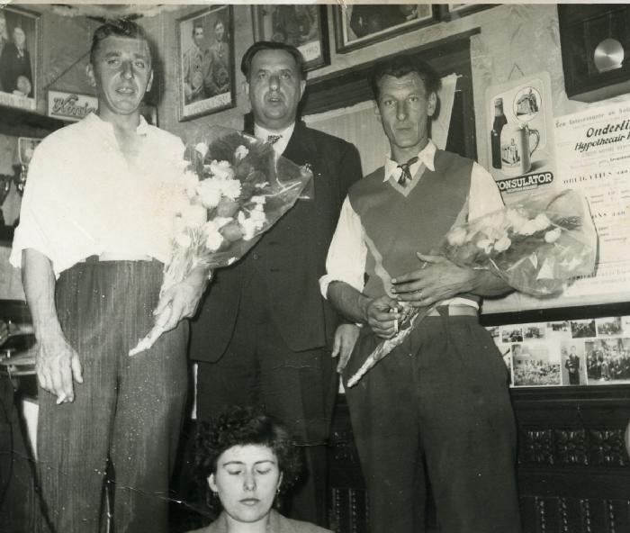 Huldiging krulbolkampioenen, Tack Robert, De Boever Adhemar, 1958
