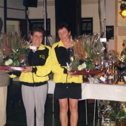 Kampioenen van Vlaanderen krulbol, Ghyselinck Katleen en Gelaude Christiane, Doornzele, 1998