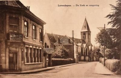 Café Burgslot en kerk