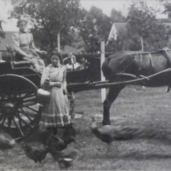 Familie Van Den Hende bij graanopper