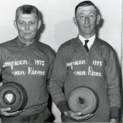 Kampioenen krulbol, Hollebosch Petrus en Van De Rostijne Roman, Rieme