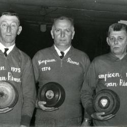 Kampioenen krulbol, Van De Rostijne Roman, Van Damme Prosper en Hollebosch Petrus, Rieme