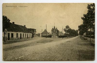 Postkaart met zicht op Sint-Ghislenuskapel, Waarschoot