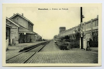 Postkaart Station en Fabriek, Waarschoot
