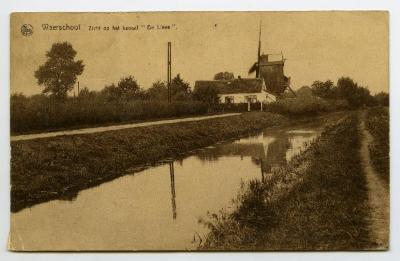Postkaart kanaal De Lieve, Zomergem