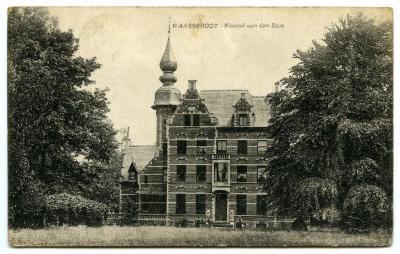Postkaart Kasteel Den Dam, Waarschoot