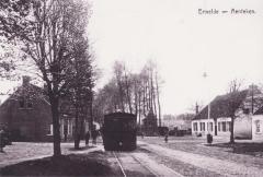 Postkaart dorpszicht Aardeken, Evergem