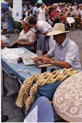 Kantklossen, Safarkesmarkt, Wachtebeke, 1982