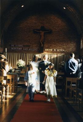 Huwelijkmis van Johan Van Caenegem en Bernadette Pieters (II), 1988