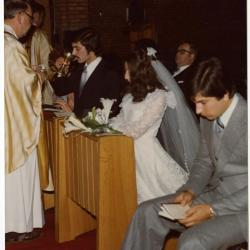 Huwelijksplechtigheid van Jean-Pierre Moens en Monique Van Herreweghe (II)