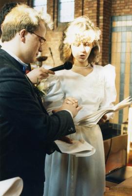 Huwelijkmis van Johan Van Caenegem en Bernadette Pieters (I), 1988