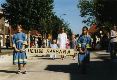 Heilige Barbara in de processie van Rieme, 2003 (II)