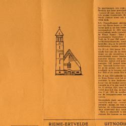 Programmaboekje wijdingsfeest Sint-Barbarakerk Rieme, 1955