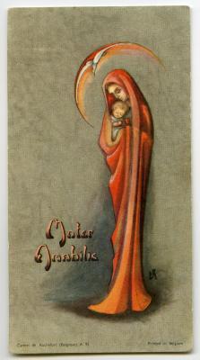Aandenken aan vormsel en communie van Marie-Thérèse Heye, 1961 (I)