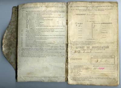 Mobilisatie-zakboekje Kamiel De Smet, Sleidinge, 1910-1914