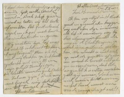 Brief Kamiel De Smet (Sint-Niklaas), Sleidinge, 1914