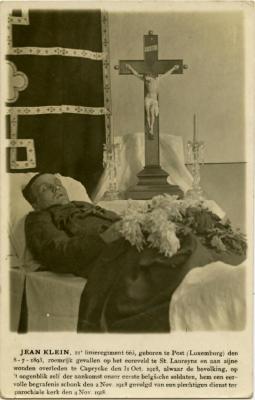 Portret wijlen Jean Klein, Kaprijke, 1918