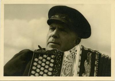Accordeonist Alfons Auwenrogge, Waarschoot, 1960-1980