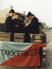 Onderweg naar '100 jaar Leestjeskermis' (1985).