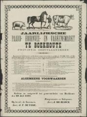 Jaarlijksche paard- hoornvee- en varkensmarkt Assenede - Boekhoute