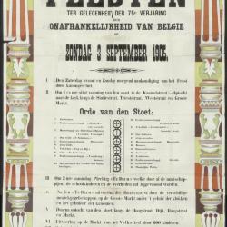 Feesten ter gelegenheid der 75e verjaring der onafhankelijkheid van Belgie Assenede