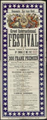 Groot internationaal festival voor harmonie, fanfaren en zangmaatschappijen Sas-van-Gent