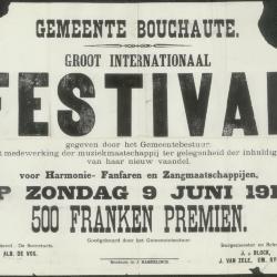 Groot internationaal festival voor harmonie- fanfaren en zangmaatschappijen Bouchaute