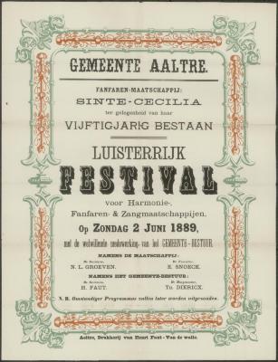 LUISTERRIJK FESTIVAL voor Harmonie, Fanfaren- & Zangmaatschappijen.  Aalter