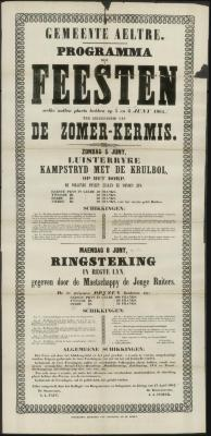 PROGRAMMA der FEESTEN ter gelegenheid van DE ZOMER-KERMIS Aalter