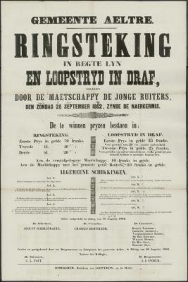 RINGSTEKING in regte lyn EN LOOPSTRYD IN DRAF Aalter