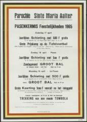 PASENKERMIS Feestelijkheden 1965 Maria - Aalter