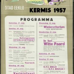 Feestprogram Kermis 1949 Stad Eeklo