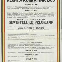 Kermisprogramma 1962 Wachtebeke