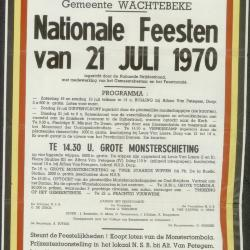 Kermisprogramma 1972 Wachtebeke